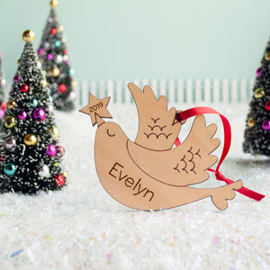bird christmas ornament personalized