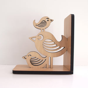Bird Stack Wooden Bookend