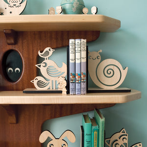 Snail Wooden Bookend