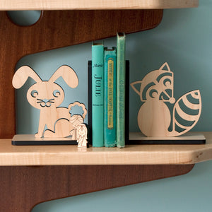 Raccoon Wooden Bookend