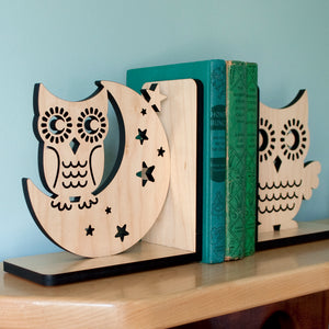 Night Owl Wooden Bookend
