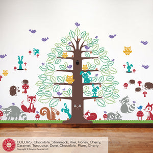 Books of the Bible Wall Decal Happy Tree Animal Collection