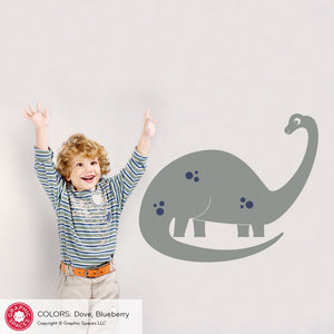 Large Dinosaur Wall Decal Brontosaurus