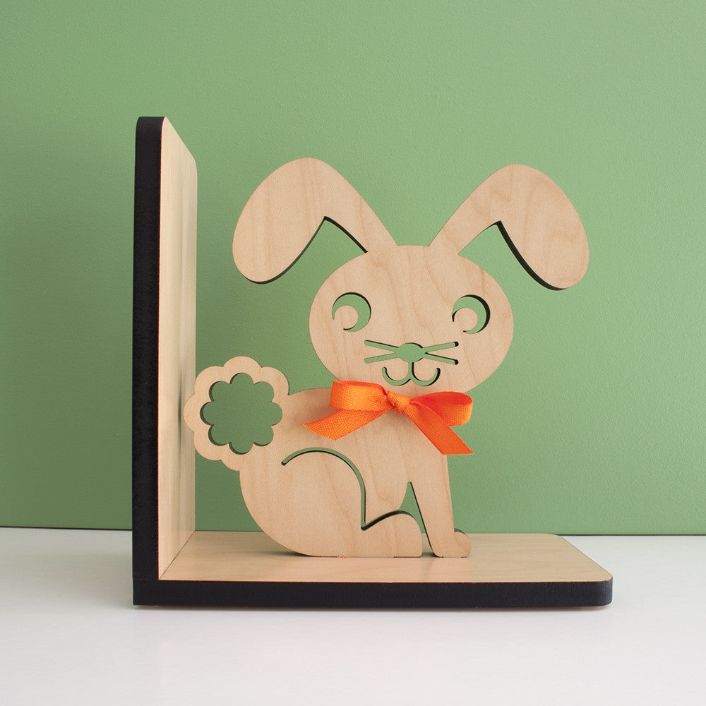 Bunny Wooden Bookend