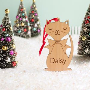 cat christmas ornament personalized