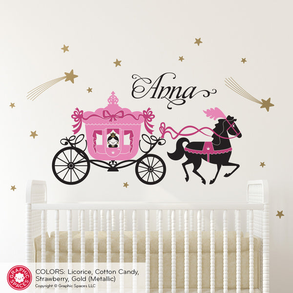 Cinderella Princess Horse & Carriage Wall Decal