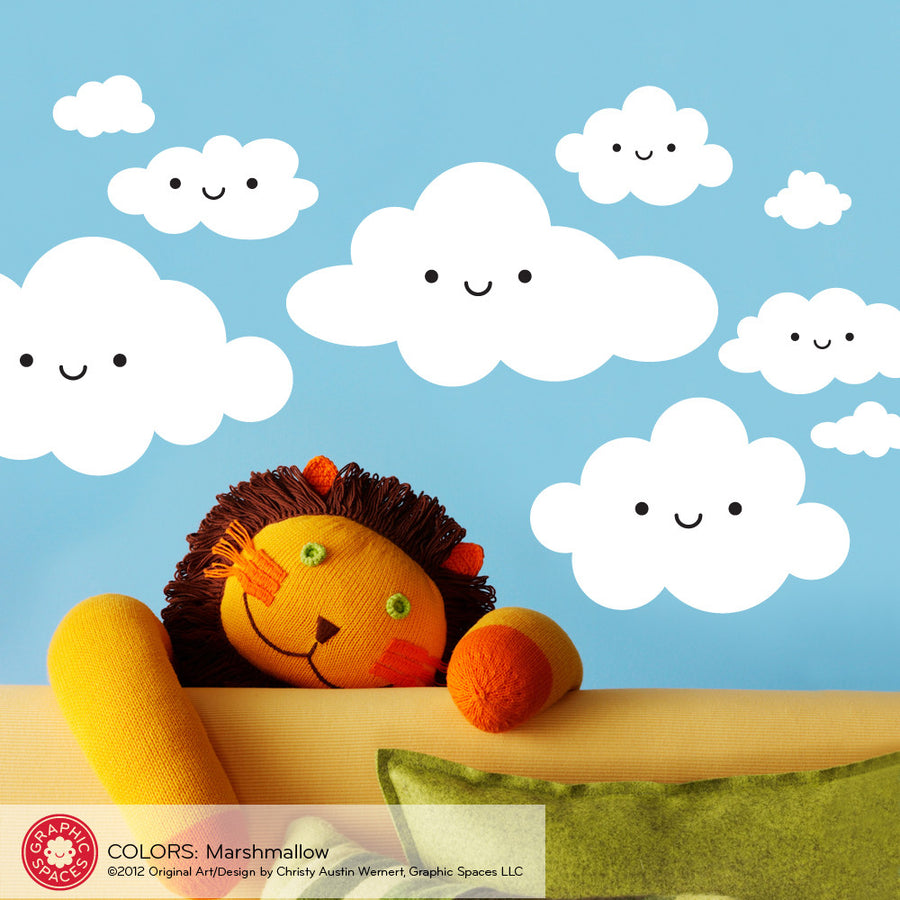 Cloud Wall Decals, Happy Clouds