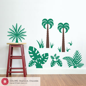 Dinosaur Jungle Plants Wall Decals
