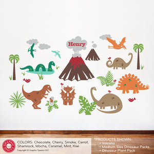 Loch Ness Sea Monster & Pterodactyl Dinos Wall Decal (3 Pack)