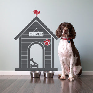 Dog House Wall Decal: Medium