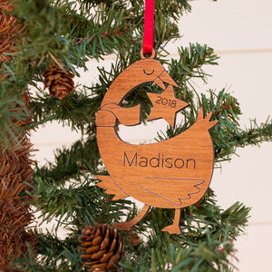 Duck Wooden Christmas Ornament