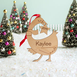 duck goose christmas ornament personalized