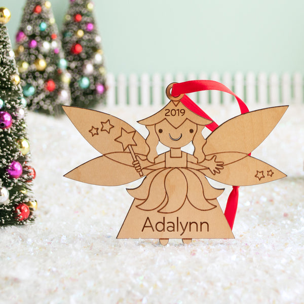 fairy christmas ornament personalized