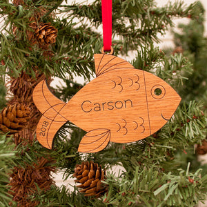 fish christmas ornament personalized
