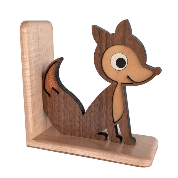 Fox Wooden Bookend Heirloom Graphic Spaces