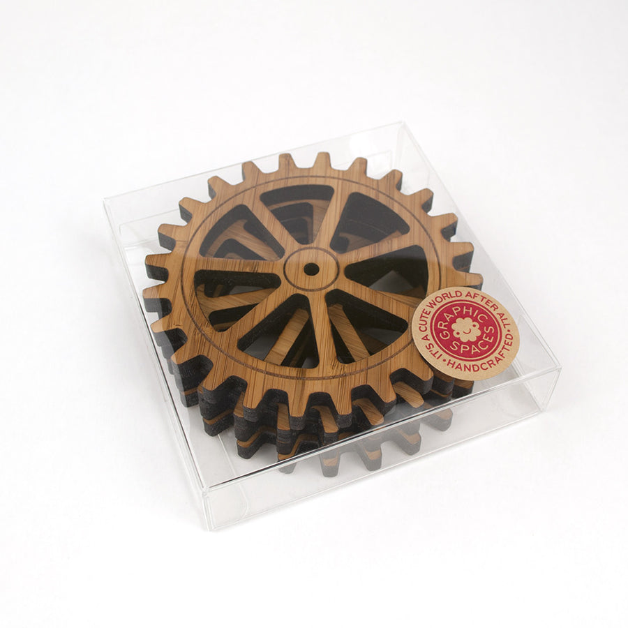 Gear Bamboo Coasters