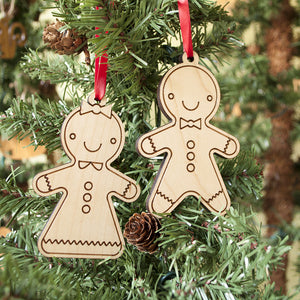 wooden gingerbread cookie christmas ornaments