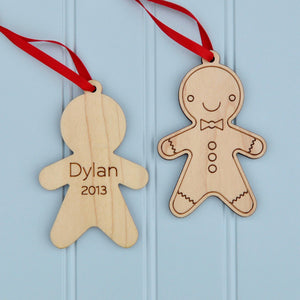 gingerbread boy christmas ornament personalized