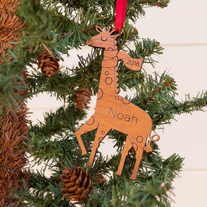 giraffe christmas ornament personalized
