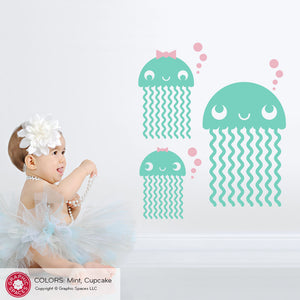 Jellyfish Wall Decals