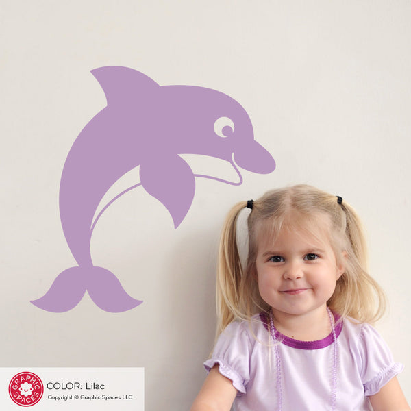 Dolphin Wall Decal: Jumping