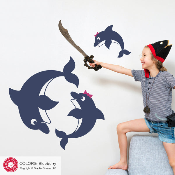 Dolphin Family Wall Decals