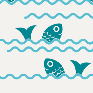 Jumping Fish & Ocean Waves Wall Decals