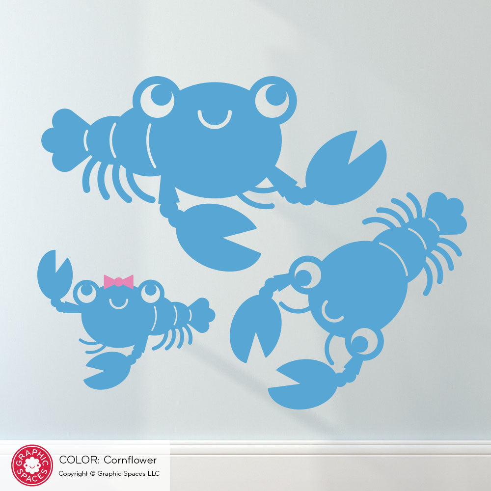 Happy lobster wall decals graphic spaces happy lobster wall decals amipublicfo Image collections