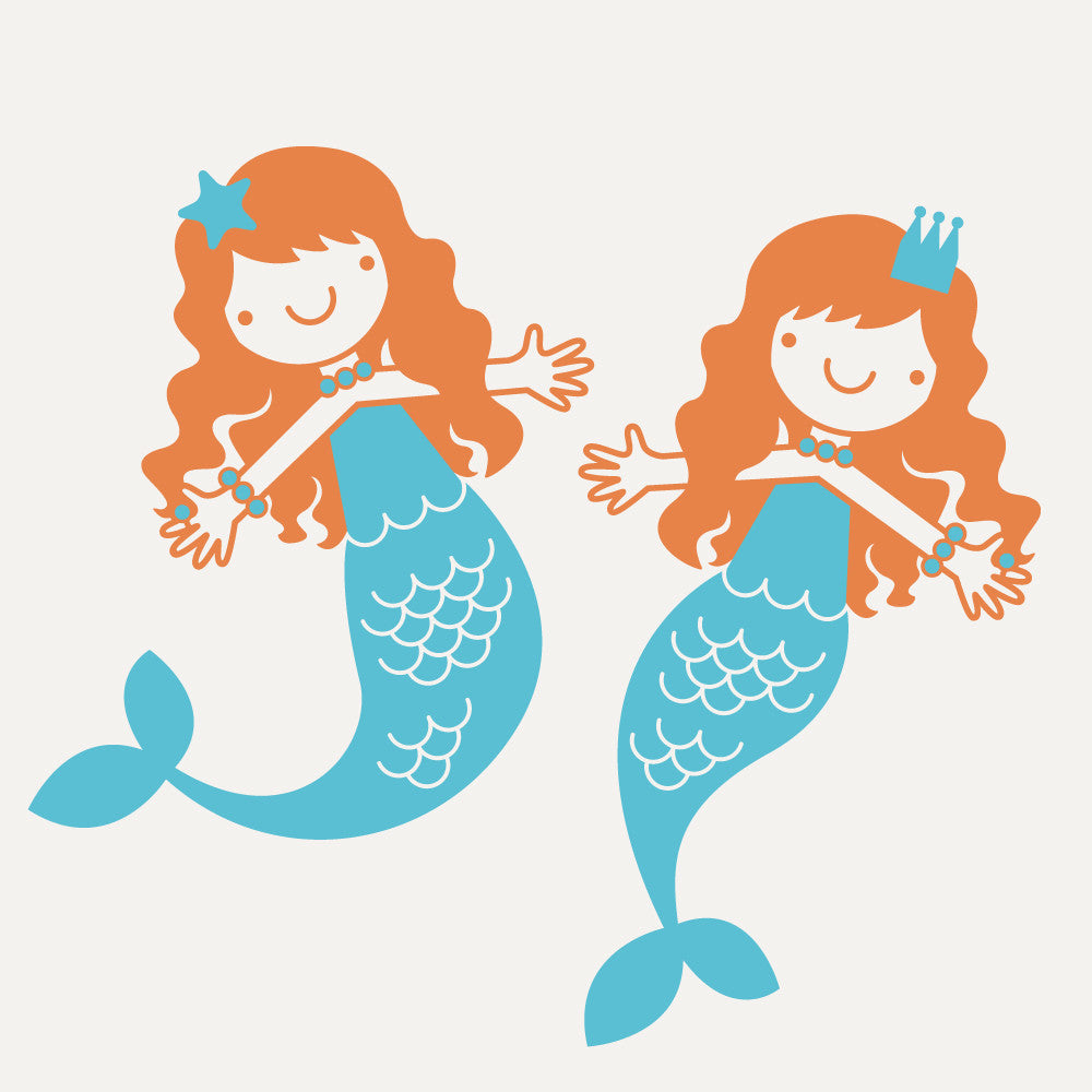 ... Mermaid Wall Decals, Small Twin Pack ... Part 71