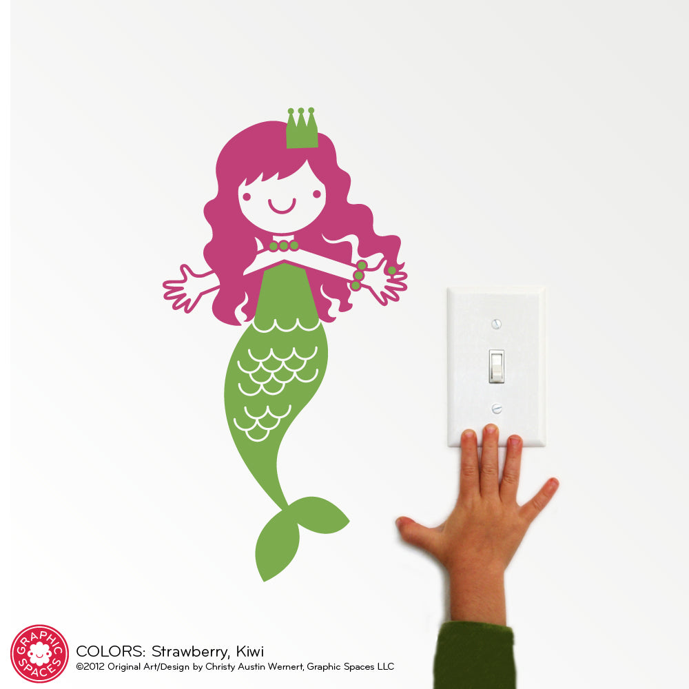 Mermaid Wall Decal Small Twin Pack Graphic Spaces