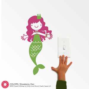 Mermaid Wall Decal: Small Twin Pack