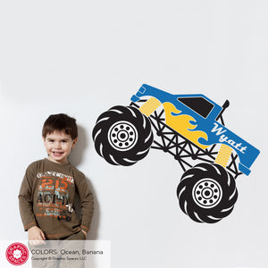 Monster Truck Wall Decal