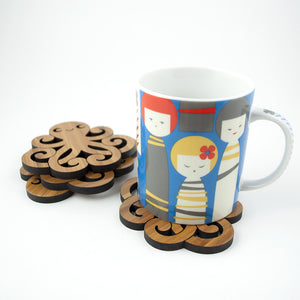 Octopus Bamboo Coasters