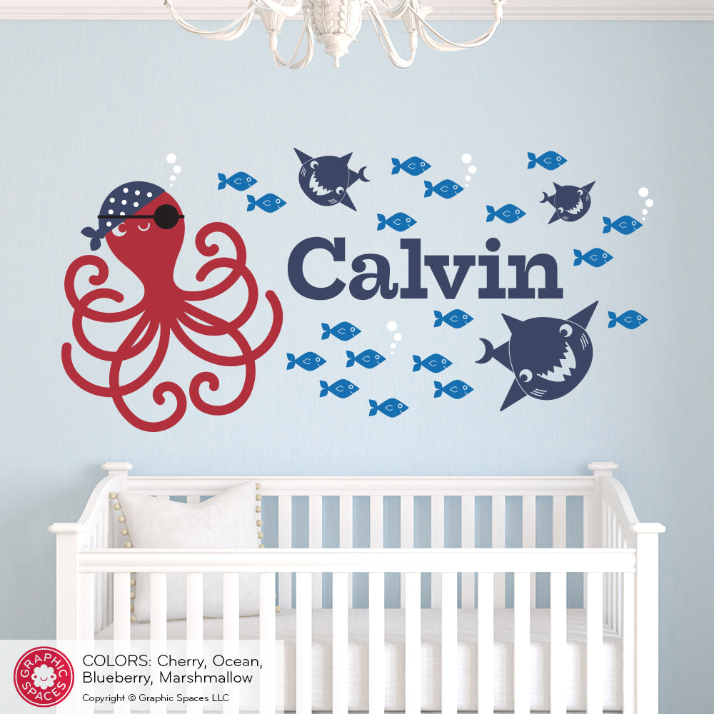 Pirate octopus wall decal graphic spaces pirate octopus wall decal pirate octopus wall decal amipublicfo Gallery