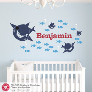 Pirate Shark Wall Decal