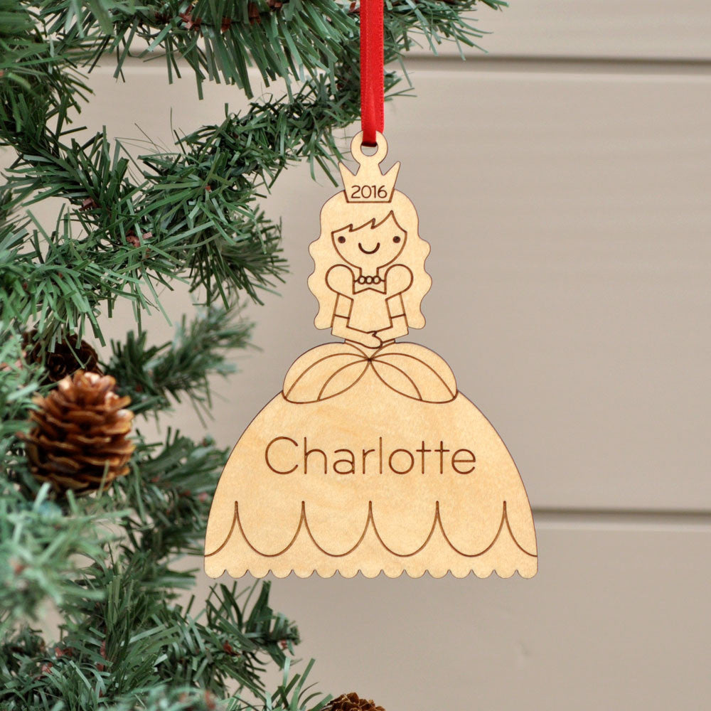 Princess Ornament: Handcrafted Wooden Personalized Christmas ...