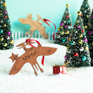 dinosaur Christmas ornament personalized pterodactyl