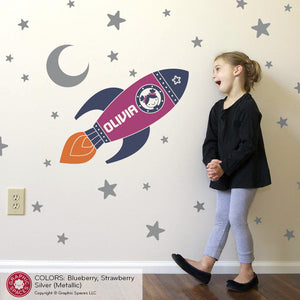 Rocket Girl Wall Decal