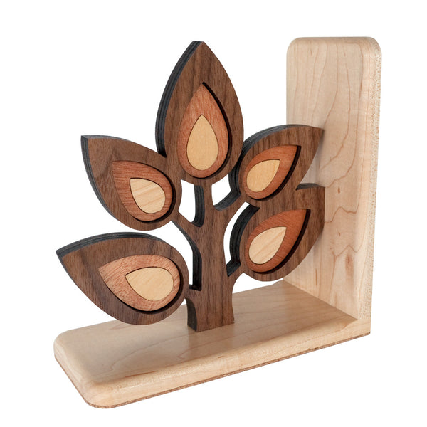 Sapling Tree Branch Wooden Bookend for woodland animal nursery decor handmade by Graphic Spaces