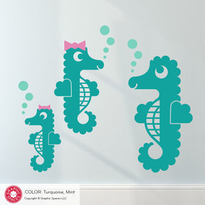 Seahorse Wall Decals