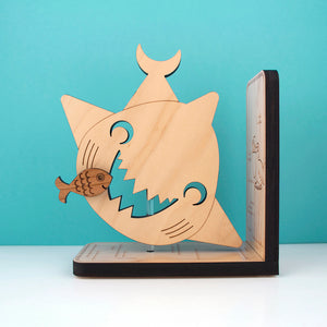 Shark Wooden Bookend