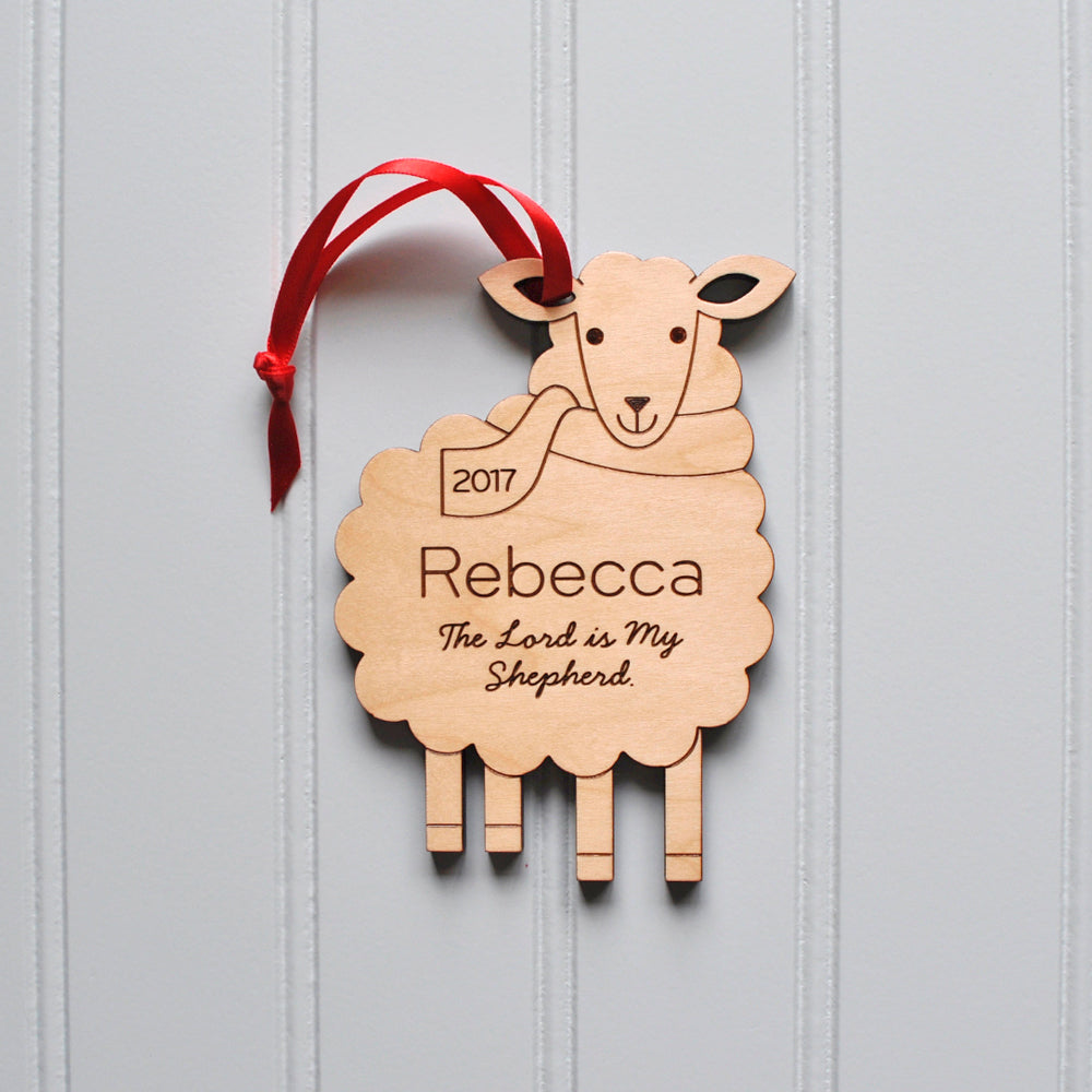 Handmade Christmas Ornament Religious Ornament Icon: Personalized Sheep Christian Christmas Ornament