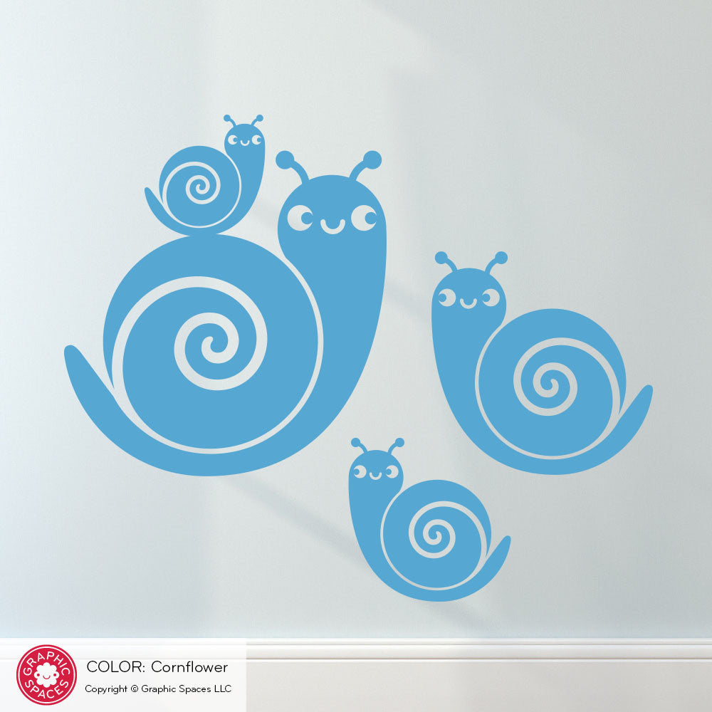 Snail Family Wall Decals Graphic Spaces