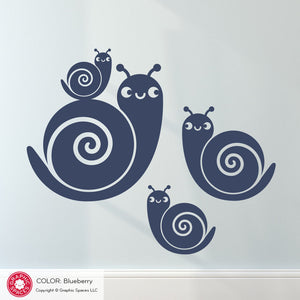 Snail Family Wall Decals