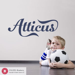 Name Wall Decal: Sport Team Font