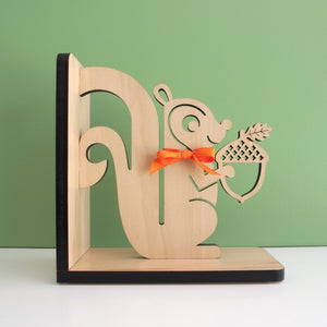 Squirrel Wooden Bookend