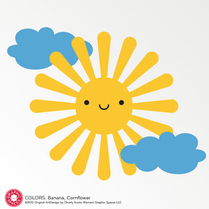 Happy Sun Wall Decal