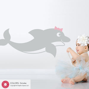 Dolphin Wall Decal: Swimming