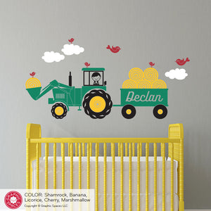 Tractor Boy Wall Decal