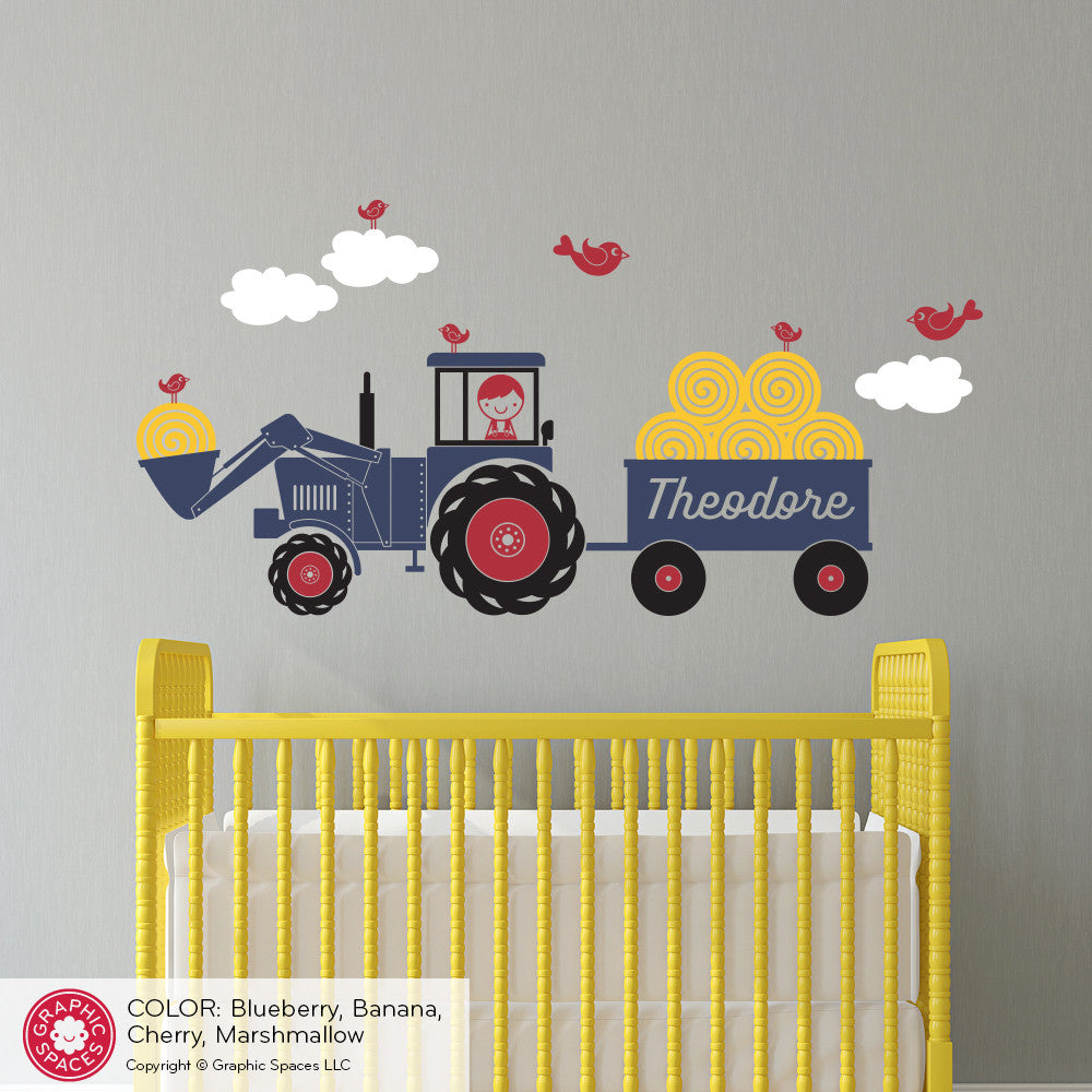 Tractor boy wall decal graphic spaces tractor boy wall decal amipublicfo Gallery